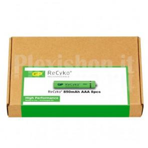 Confezione risparmio 8 Batterie Ricaricabili AAA Mini Stilo 950mAh GP ReCyko+
