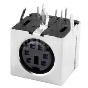 Connettore angolare mini-Din6 PS2 da circuito stampato