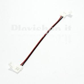 Connettore doppio a clip per Striscia Led da 8 mm Monocromatica