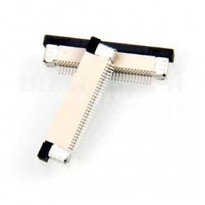 Connettore SMT da circuito stampato per cavo piatto FFC / FPC , 30P passo 0.5mm