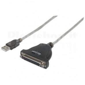 Convertitore USB a Stampante Parallela DB25 F (Cavi cablati)