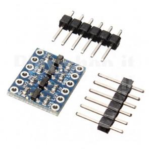 Convertitore bidirezionale di livelli logici I2C 1.8 2.8 3.3 - 5Vcc per Arduino