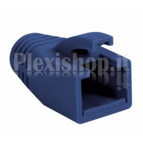 Copriconnettore per Plug RJ45 Cat.6 8mm Blu