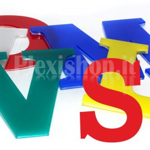 Cover per lettere luminose - S