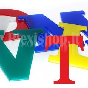 Cover per lettere luminose - T
