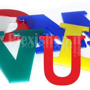 Cover per lettere luminose - U