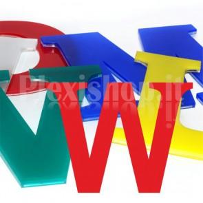 Cover per lettere luminose - W