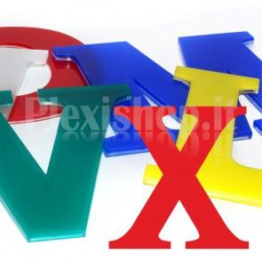 Cover per lettere luminose - X