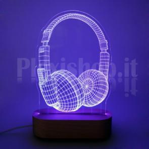 Lampada 3D Cuffie RGB