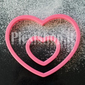 3 Cuori rosa in plexiglass