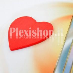5 Cuori rossi in Plexiglass