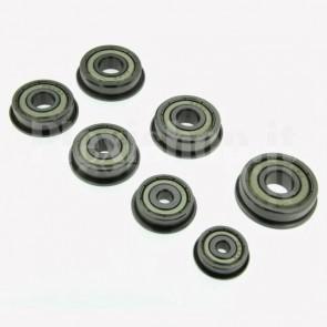 Cuscinetto a sfere sigillato e flangiato F636ZZ, S 7mm, D 22mm, d 6mm
