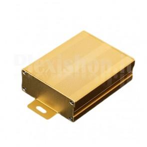 Custodia in alluminio giallo oro 76x35x100mm