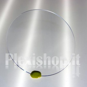 Disco plexiglass trasparente Ø 19 mm