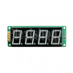 Display a 4 digit e 8 segmenti I2C, colore verde
