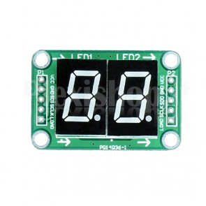 "Display LED 0.5"" a 2 digit I2C seriale, rosso"
