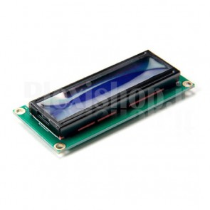Display LCD 16x1, 1 riga 16 caratteri e retroilluminazione blu