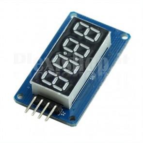Display orologio a 4 digit e 7 segmenti I2C, colore rosso