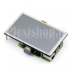"Display touch screen 5"" ad alta risoluzione per Raspberry Pi"