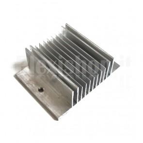 Dissipatore in alluminio estruso, 60x45mm