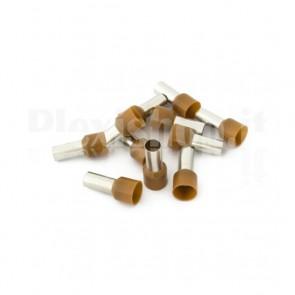 Puntale boccola singolo a crimpare - E25-16