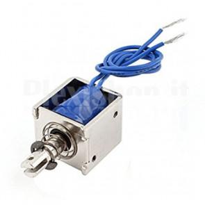 Elettromagnete push-pull con molla di ritorno, 25W 12Vcc