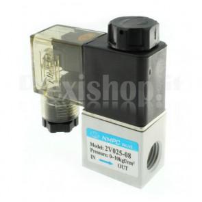 "Elettrovalvola pneumatica per aria 2V025-08, G1/4"""