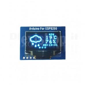 "ESP8266 + Display OLED LCD Blu 0.96"""