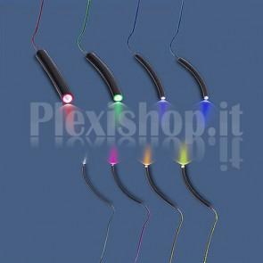 Fibra ottica end-to-end rivestimento nero 5mm
