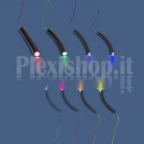 Fibra ottica end-to-end rivestimento nero 6mm