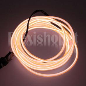 Filo elettroluminescente ARANCIONE Ø 2.3 mm - 2m
