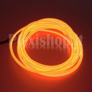 Filo elettroluminescente ROSSO Ø 2.3 mm - 5m