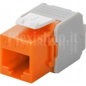 Frutto Keystone RJ45 Cat6A UTP 500MHz Arancione