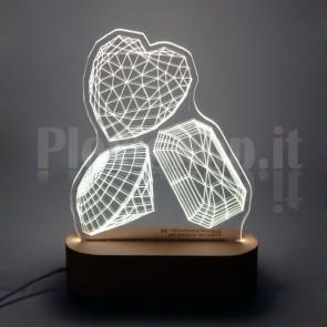 Lampada 3D Gioielli Bianca