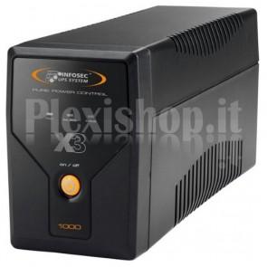 Gruppo di Continuità UPS X3 1000VA 4 VDE e USB Nero