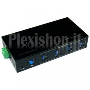 Hub Industriale USB 3.0 4 Porte Nero