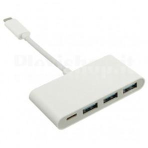 Hub USB 3.1 3 Porte USB A e 1 Porta USB-C