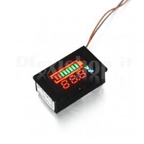 Indicatore di carica per elementi litio, 36V 10S