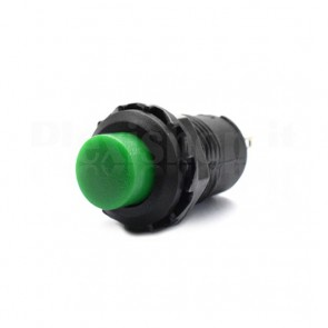 Interruttore a Pulsante Verde 12mm SPST OFF-ON