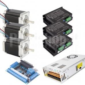 Kit 3 assi + driver per CNC, 57x112 4.0A