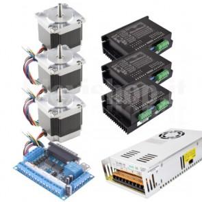 Kit 3 assi + driver per CNC, 57x56 3.0A