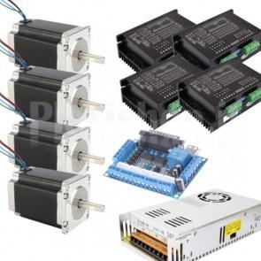 Kit 4 assi + driver per CNC, 57x112 4.0A