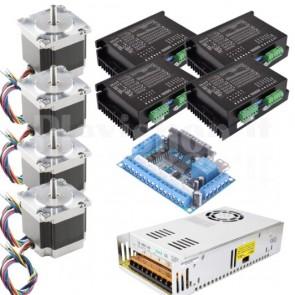 Kit 4 assi + driver per CNC, 57x56 4.0A