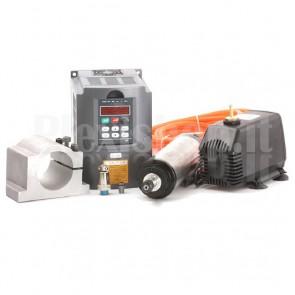 Kit elettromandrino + inverter 1.5KW ad acqua
