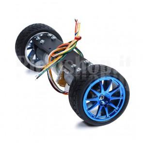Kit ruote bilanciate + motori + asse per Robot Car