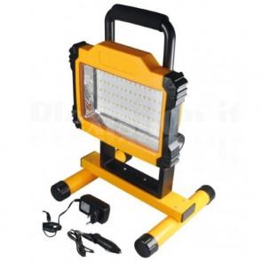 Lampada da Lavoro con 75 SMD LED e Batteria al Litio