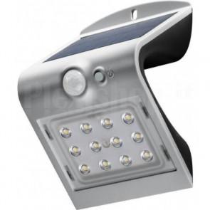 Lampada LED Solare a Muro 1,5W IP65 Sensore di Movimento Silver