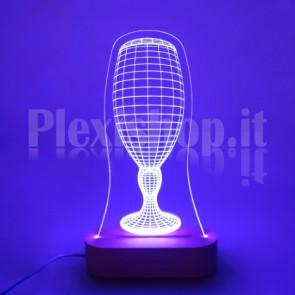 Lampada 3D Calice Birra RGB