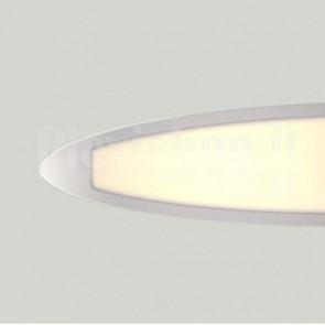 Lampada LED a Sospensione 28W 4000K Ovale Silver