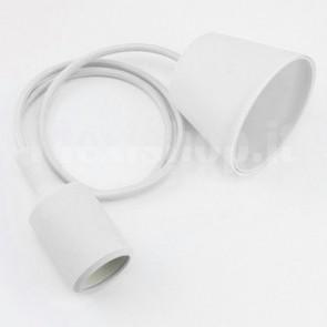 Lampadario portalampada E27 in silicone - Bianco